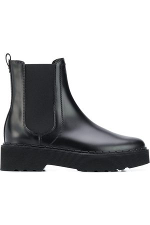 Tod's Logo-debossed ankle boots