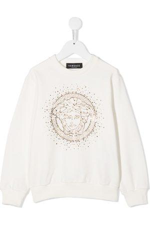 VERSACE Embellished medusa logo sweatshirt