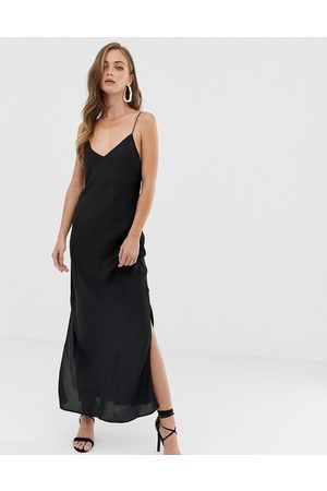 ASOS Satin cami maxi slip dress in