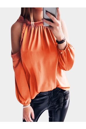 YOINS Cut Out Crew Neck Long Sleeves Top