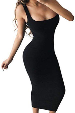 YOINS Square neck Bodycon Fit Maxi Dress