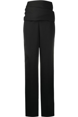 Y / PROJECT High-waisted draped trousers