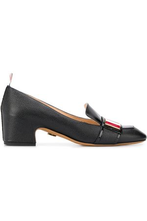 Thom Browne 4-bar plaque loafers