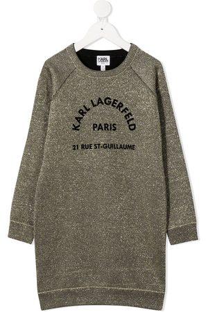 Karl Lagerfeld Logo embroidered sweatshirt dress