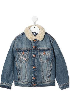 Diesel Shearling collar denim jacket