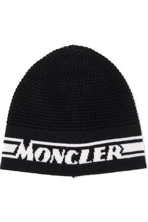 Moncler Logo jacquard knit beanie