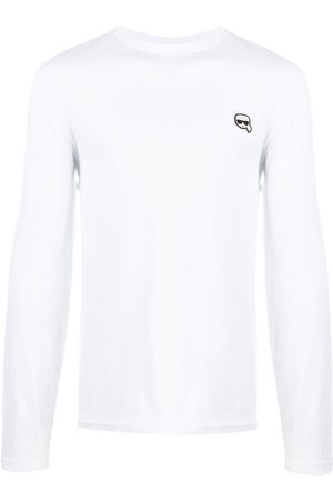 Karl Lagerfeld Men Long Sleeve - Ikonik patch cotton T-shirt