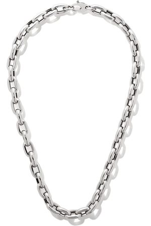 """AS29 18kt white gold 18"""" bold links chain necklace"""