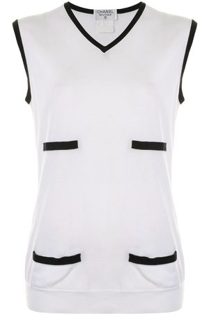 CHANEL V-neck tank top