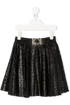 Karl Lagerfeld Logo embroidered shift skirt