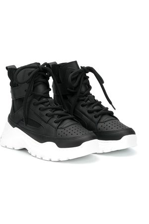 Emporio Armani High-top leather sneakers