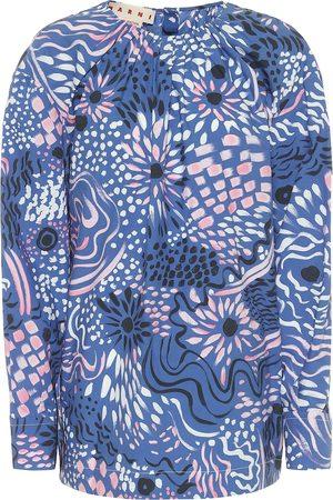 Marni Printed cotton poplin top