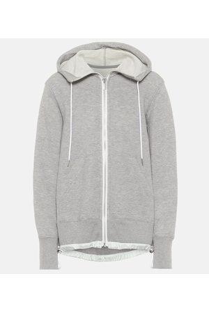 SACAI Cotton-blend jersey hoodie