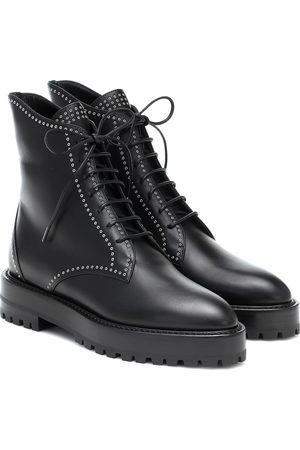 Alaïa Lace-up leather ankle boots
