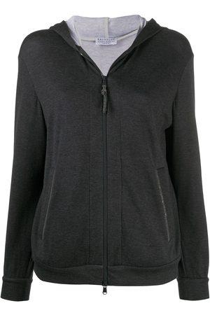 Brunello Cucinelli Zipped long-sleeved hoodie