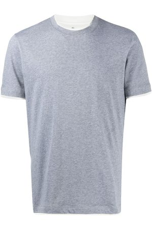 Brunello Cucinelli Contrast-trimmed cotton T-shirt