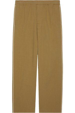 Gucci Logo-print straight-leg trousers