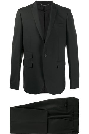 Les Hommes Multi-pocket single-breasted suit