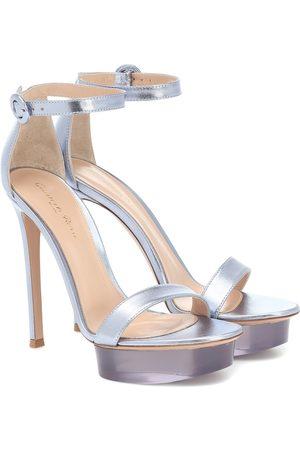Gianvito Rossi Shiva leather platform sandals