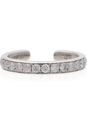YVONNE LÉON Women Earrings - 18kt white and diamond studded ear cuff