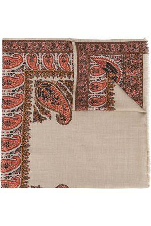Etro Paisley-pattern fringed scarf
