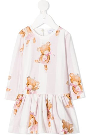MONNALISA Striped ballet bear dress