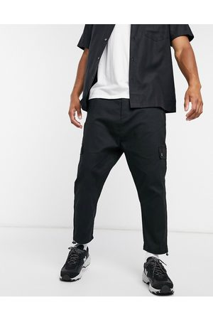 ASOS Drop crotch cargo trousers with toggle