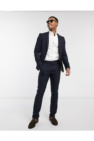 AVAIL London Skinny fit suit jacket in with gold buttons