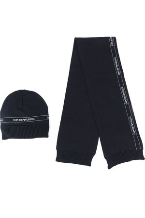 Emporio Armani Logo beanie and scarf set