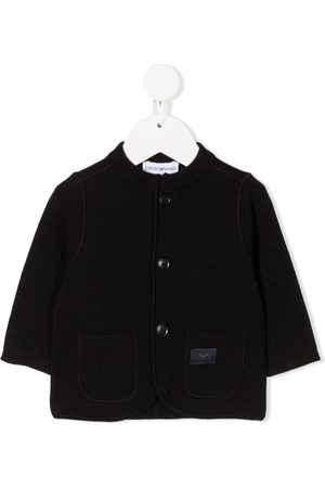 Emporio Armani Logo patch knitted cardigan