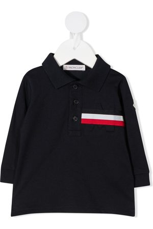Moncler Long sleeve striped pattern polo shirt