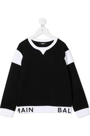 Balmain Contrast panel sweater
