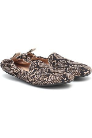 Gianvito Rossi Women Loafers - Snake-print leather loafers