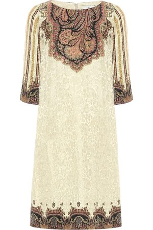 Etro Paisley lamé jacquard shift dress