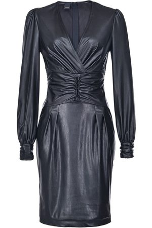 Pinko Women Party Dresses - Textured ruched style dress
