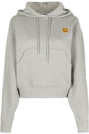 Kenzo Cotton hoodie with tiger motif