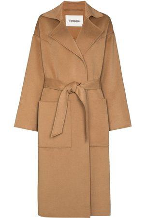 Nanushka Alamo belted wool coat