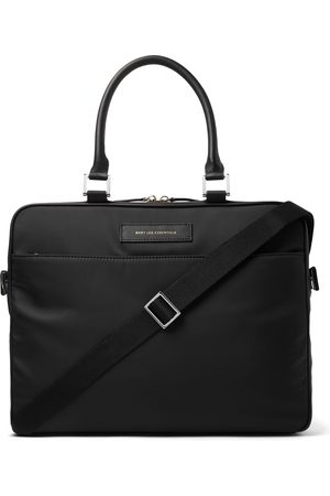 WANT LES ESSENTIELS Men Briefcases - Haneda Leather-Trimmed Nylon Briefcase