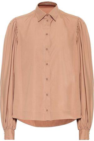 Alaïa Women Long Sleeve - Cotton poplin shirt