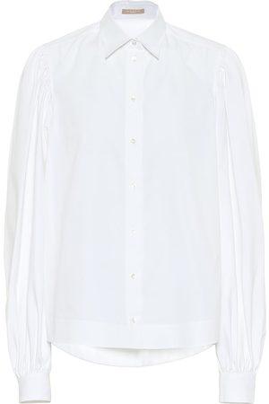 Alaïa Puff-sleeve cotton poplin shirt