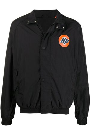 Heron Preston Logo-print buttoned windbreaker