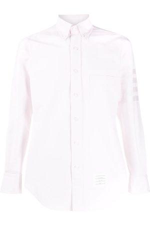 Thom Browne Satin 4-Bar motif shirt