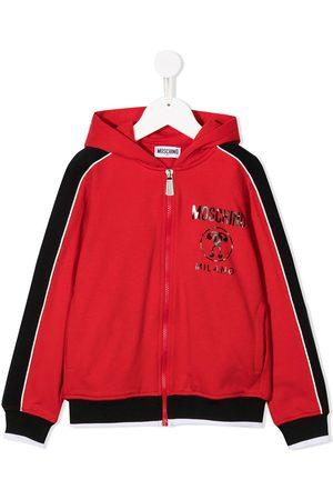 Moschino Logo print zipped hoodie