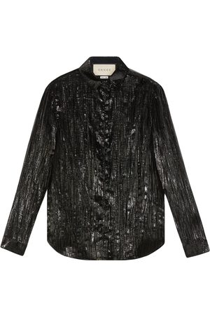 Gucci Long-sleeve lamé shirt