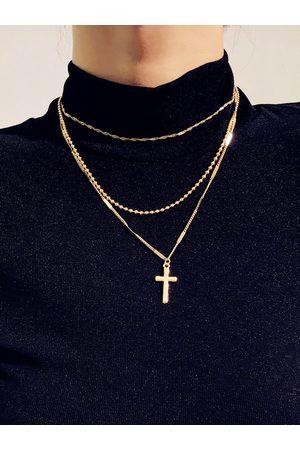 YOINS Women Necklaces - Cross Pendant Multi-layer Necklace