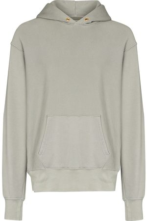 Les Tien Cropped cotton hoodie