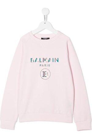Balmain Iridescent logo sweatshirt