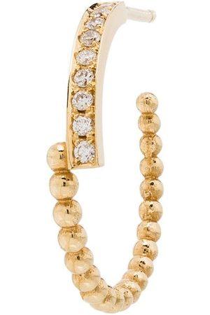 KIMAI 18kt yellow Perla diamond hoop earring