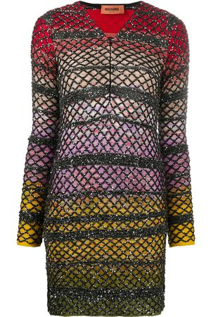 Missoni Glitter open-knit fitted dress