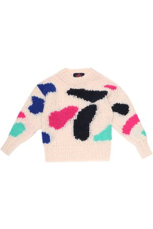 The Animals Observatory Girls Jumpers - Arty Bull wool-blend sweater
